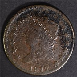 1812 CLASSIC HEAD LARGE CENT XF CORRODED