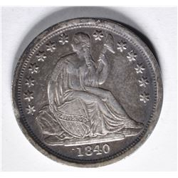 1840-O SEATED DIME  XF/AU