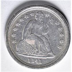 1841-O SEATED DIME  AU+