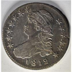 1812 CAPPED BUST HALF DOLLAR  AU