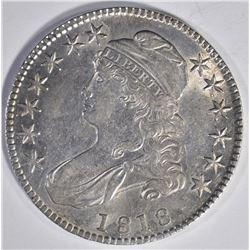 1818 CAPPED BUST HALF DOLLAR  AU/BU