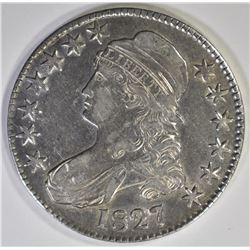 1827 CAPPED BUST HALF DOLLAR  AU/BU