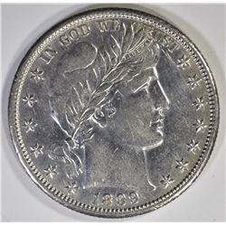 1899-O BARBER HALF DOLLAR  AU/BU