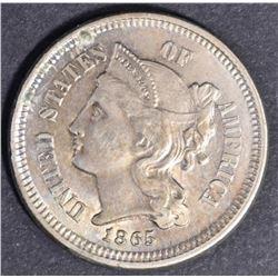 1865 3 CENT NICKEL  CH BU
