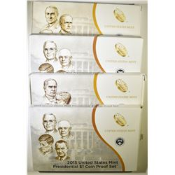 2013, 2014 & 2-2015 U.S. PRESIDENTIAL PROOF SETS