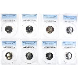 8 PROOF WASHINGTON QUARTERS ALL PCGS GRADED