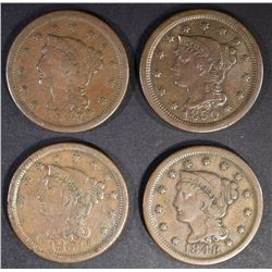 LOT OF 4-LARGE CENTS: