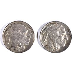 2-1931-S BUFFALO NICKELS, AU