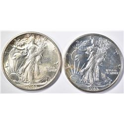 2 - 1943-S WALKING LIBERTY HALF DOLLARS