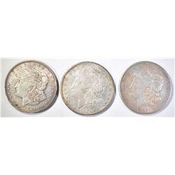 1921-P-D-S MORGAN DOLLARS, AVE CIRC