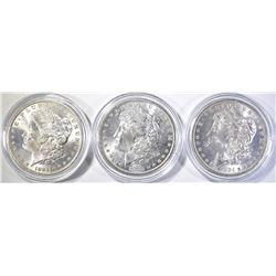 3-1884-O BU MORGAN DOLLARS
