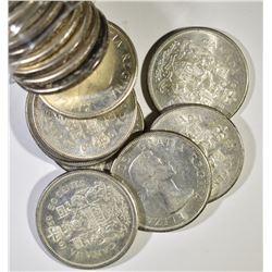20-BU 1959/60 CANADIN HALF DOLLARS