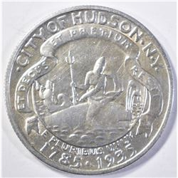1935 HUDSON COMMEM HALF DOLLAR, CH BU SCARCE!