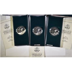 3-1991 PROOF KOREAN WAR COMMEM SILVER DOLLARS