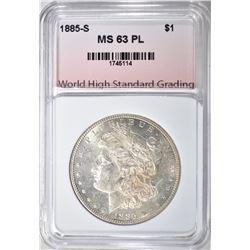 1885-S MORGAN DOLLAR WHSG CHBU