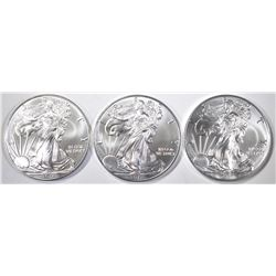 3-GEM BU 2017 AMERICAN SILVER EAGLES