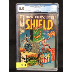 "1968 Graded ""Nick Fury Agent of Shield #1"" Comic"