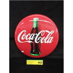 "1990 Coca-Cola Button - 12"" Diameter"