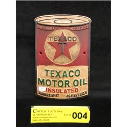 Vintage Tin Texaco Oil Wall Advertisement