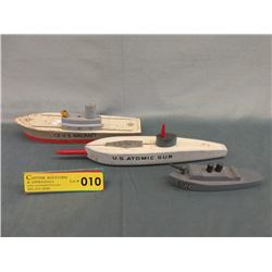 Three 1930/40s Keystone Wood Military Vessels