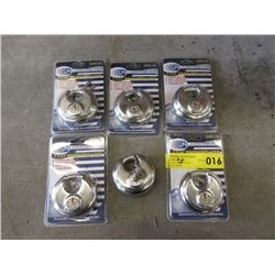 6 New 2-3/4 Round Steel Locks