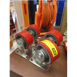 "Set of 4 New 4"" Casters"
