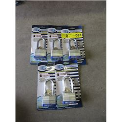 5 New Long Shank Pad Locks