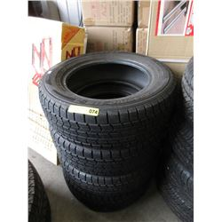 Set of 4 Dunlop M&S Tires