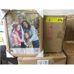 """3 Cases of 12 New 8"""" x 10"""" Oak Picture Frames"""