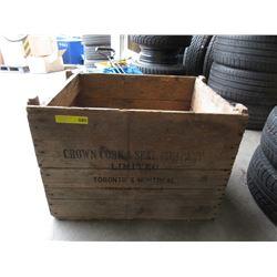 """Vintage Wood Crate """"Crown Cork & Seal Company"""""""