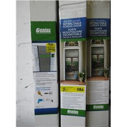2 Genius Retractable Screen Doors - Store Returns