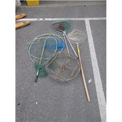 3 Fishing Nets & 2 Traps