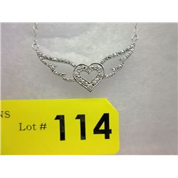 Heart & Wings Diamond Studded Necklace