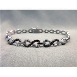 Black & White Diamond Infinity Link Bracelet