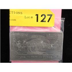 1 Oz. .999 Fine Titanium USA Mint Buffalo Bar