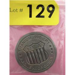 1 Oz. .999 Fine Titanium USA Shield Round