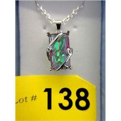 50 CT Large Mystic Topaz Necklace
