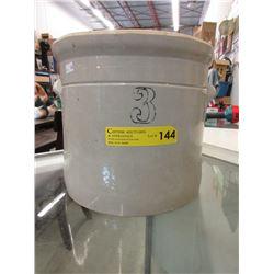 3 Gallon Pottery Crock