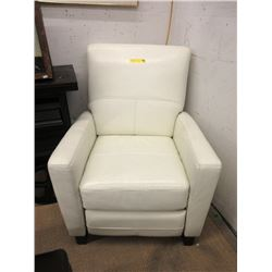 New Amax White Leather Pushback Recliner