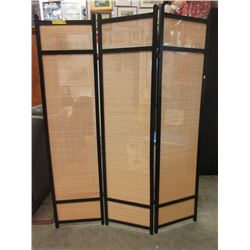 3 Panel Wood & Bamboo Screen