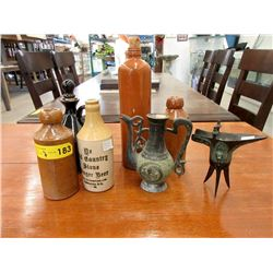 7 Collectible Bottles & Vases