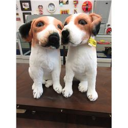 "Two 16"" Tall Stuffed Dog Toys"