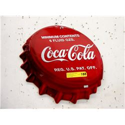 Embossed Tin Coca-Cola Bottle Cap Sign