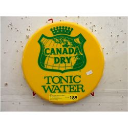 Embossed Plastic Canada Dry Bottle Cap Sign