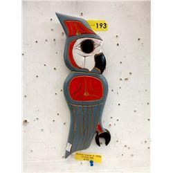 "2009 Antone Charlie Jr. 13"" Owl Plaque"
