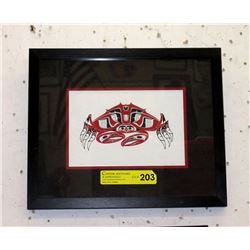 "Richard Shorty Framed Print ""Crab"""
