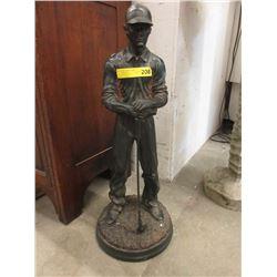 """28"""" Tall Bronzed Golfer Statue"""
