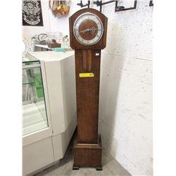 Vintage Oak Granddaughter Clock ca1930
