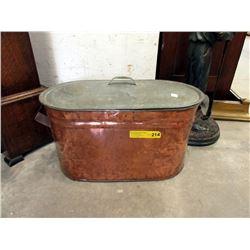 Vintage Copper Boiler with Lid