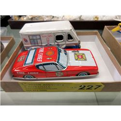 Fire Chief Car & Mr. Softee Friction Drive Truck